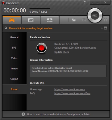 BandiCam 5.1.0.1822 Crack + Serial Number 2021 [Mac/Win] Latest